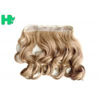 Heat Friendly Natural Curly Hair Wigs Double Weft Clip In Hair Extensions Manufactures