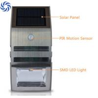 Quality Durable / Elegant Stainless Steel Solar Wall Lights With Motion Sensor for sale