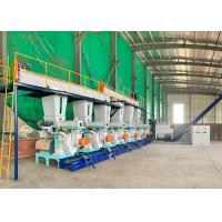 Professional Complete Wood Pellet Plant 5T/H Capacity With 12-15% Feeding Material Moisture Manufactures