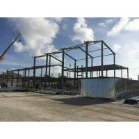 Quality 2 Floor Steel Framed Buildings Warehouse Steel Structure With Alkyd Grey Paint in Maldive for sale