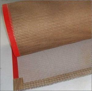 Quality high temperature ptfe teflon coated fiberglass mesh conveyor belt for sale