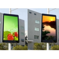 Buy cheap Street Smart Light Pole LED Sign P3.33 SMD 6500CD LED Screen from wholesalers