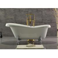 Acrylic Double Ended Clawfoot Tub , Freestanding Clawfoot Tub Roll Top Manufactures