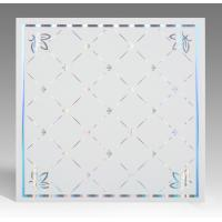 Quality Hot Stamping Surface PVC Ceiling Tiles Flat Board Type Environmental Material for sale
