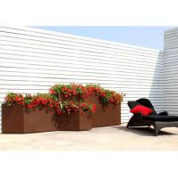 Modern Rectangular Rusty Corten Steel Planter Anti Corrosion Classic Design Manufactures