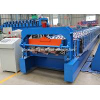 Steel Structure Floor Decking Forming Machine Automatic With Hydraulic Cutter Manufactures