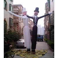 Custom Inflatable Advertising Products Oxford Cloth Groom And Bride Air Dancer Manufactures