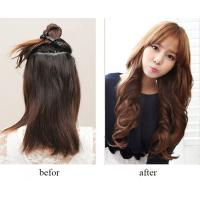 China Popular Golden Synthetic Clip In Hair Extensions Long Curly Hair Weft on sale