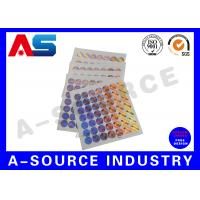 Buy cheap Plastic Custom Holographic Stickers Order Custom Stickers Steroid Label Box Packaging from wholesalers