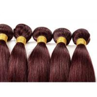 Red Straight Colored Human Hair Extensions Remy Brazilian Hair Weave Manufactures