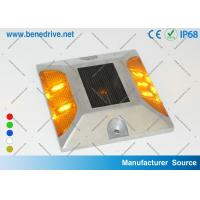 Aluminum Solar Powered LED Raised Pavement Markers Road Light 10 Tons Resistance Manufactures