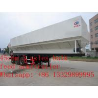 high quality 45cbm feed transportation trailer for sale, CLW brand 20tons farm-oriented electronic system feed trailer Manufactures