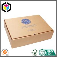 Custom Logo Printed Corrugated Mailing Box; Easy Seal Cardboard Shipping Box Manufactures