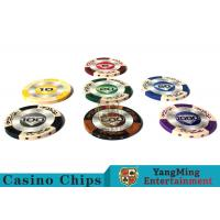 14g Custom Clay Poker Chips With Mette Sticker 3.4mm Thickness Manufactures
