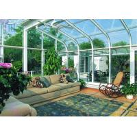 Quality White Color Aluminium Glass Greenhouse Luxury Imperial Design System for sale