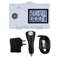 USB Battery Operated Carbon Monoxide Alarm Detector With Clock Function Manufactures