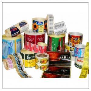 Custom self adhesive printing product sticker label, Adhesive print printer paper label sticker Manufactures