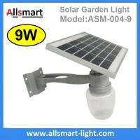 9W Solar Parking Lot LED Light Solar Garden Light LED Street Light With Solar Panel Mount On Lamp Pole Post Manufactures