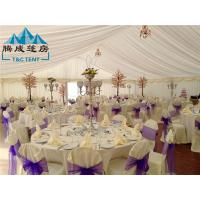 Quality 20m Width Fire Retardant A Shaped White Wedding Event Tents / Outdoor Wedding for sale