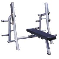 High Performance Power Exercise Equipment Flat Press Bench With Smooth Outline Manufactures