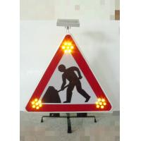Quality Foldable Traffic Warning Signs Portable Solar Flashing LED Lights for sale