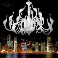 Art Deco European Candle Crystal LED Swan Chandeliers Ceiling Bedroom Living Room Modern Decoration G4 24 Lighting Free Manufactures