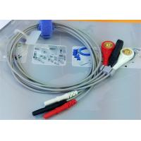 Din 3 leads ECG Leadwires medical equipment Accessories , Holter ECG Cable Manufactures