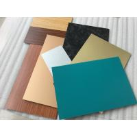 Black PVDF Paint ACM Wall Panels , Lightweight Aluminum Metal Cladding Material