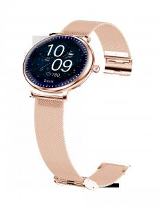 """Ladies Round Screen 1.08"""" Blood Pressure Heart Rate Smart Watch Manufactures"""