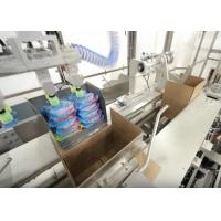 High Speed Case Packer Machine For Bottles / Cans PLC Programmed Control Fully Automatic Manufactures