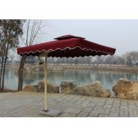 Sunshade Market Rectangular Outdoor Umbrella Windproof Without Water Tank Base Manufactures