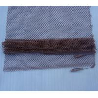 Lightweight Fireplace Spark Guard Curtains , Hanging Mesh Curtain Fireplace Screens 10 - 36 Manufactures