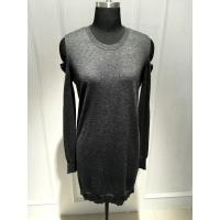 Strapless Long Sleeve Ladies Pullover Sweaters With Wool Cashmere Material Manufactures