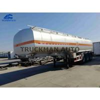 China Safety  Oil Tank Trailer 50m3 6 Comdepartment  28t - 70 Tons With The Sea Valve on sale