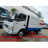 Buy cheap 2018s wholesale good price smaller road sweeping vehicle, factory sale dongfeng 4*2 LHD street sweeper truck from wholesalers