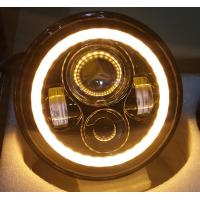 2 PC 70W 7inch 6000K 3700lm Round Angel Eyes CREE LED Headlights For Jeep Wrangler JK/TJ/LJ/CJ Manufactures