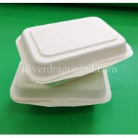 Disposable Biodegradable Sugarcane Pulp Paper Lunch Box, sugarcane clamshell