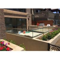 Durable Frameless Glass Railing Toughened Glass Balustrade With Stainless Steel Top Handrail Manufactures