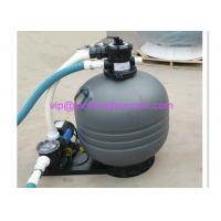 Top Mounted Plastic Swimming Pool Sand Filters For Ponds Filtration Deep Grey Color Manufactures