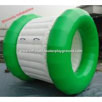 Amusement Park Inflatable Water Roller For Swimming Pool , White And Green Manufactures