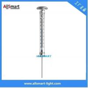 solar power porch led lights solar temperature thermometer gauge spike garden lighting weatherglass solar lamp Manufactures