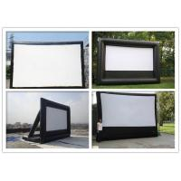 Quality Giant Inflatable 0.9mm PVC Cloth Customized Blow Up Movie Screen For Playground for sale