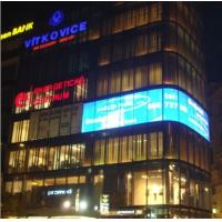 P10 Transparent Indoor Led Display Glass Screens For Glass Building Advertising Video Wall Manufactures