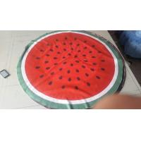 Buy cheap watermelon round beach towel kiwi round beach towel round grapefruit beach towel from wholesalers