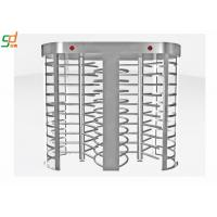 Half Height Single Turnstyle Pedestrian Barrier Gate Remote Control 304 Stainless Steel Manufactures