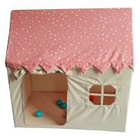Polyester Tent House For Kids , 110x74x110cm Castle Play Tent Pink Color Manufactures