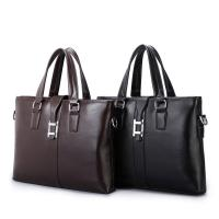 PU Casual Business Brown Leather Laptop Bag , Travel Messenger Women'S Work Bags Briefcases Manufactures