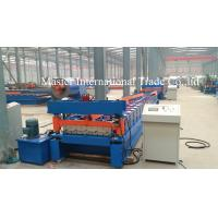 Normal Roofing Sheet Roll Forming Machine With Double Chains Drive 0.3mm - 0.8mm Manufactures