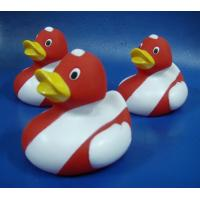 Quality Promotional Flag Colored Squeezing Rubber Ducks , Soft Squeezing Tiny Plastic Ducks  for sale