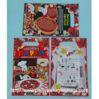 Red Plastic Toy Packaging Poly Bags / Custom Printed 3 Side Seal Bag Manufactures
